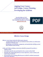 Course Design Sept 07
