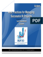 080130LenRosenblum - Best Practices in BI Project Management
