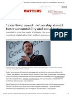 David Cameron Open Government Partnership should foster accountability and social justice