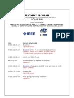 Tentative Program IEEE FYP-Examiners
