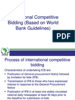 International Competitive Bidding
