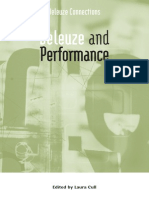Laura Cull, Deleuze and Performance