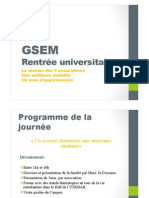 GSEM-Rentrée universitaire 2014