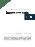 Assertivité Limites Et Apports