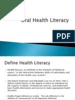oral health literacy