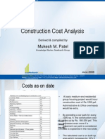 Construction Cost Analysis in Residential Sector
