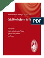 Talk.017 BNL Optical Modeling Beyond Ray Tracing