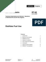 Wartsila SR RT82 Distillate Fuel Use