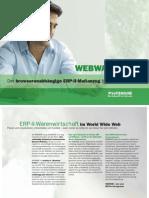 WEBWARE ERP 2 - Der browserunabhängige ERP-II-Maßanzug für das Internet