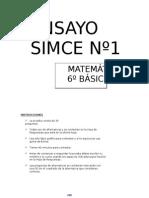 Ensayo1 Simce Matematica 6 Basico 2011