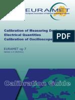EURAMET Cg-7 v 1.0 Calibration of Oscilloscopes 01