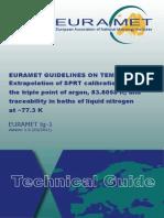 EURAMET Tg-1 v 1.0 SPRT Extrapolation