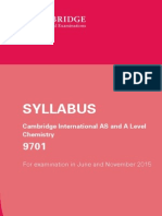 Cambridge International as and a Level Chemistry 2015 Syllabus