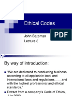 Ethical Codes Lecture