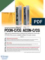 IAI EtherCAT Pcon Acon Specsheet
