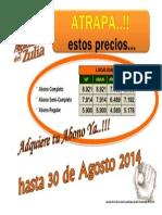 Precios Abonos AGO2014