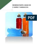 Bebidas Rehidratante a Base de Lacto Suero y Maracuyaggg