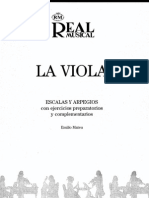 La Viola Escala y Arpegios. Mateu