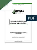 Los Pueblos Indigenas Como Sujetos de Derecho Publico