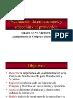 Evaluación de Cotizaciones y de Proveedor ISV