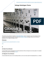 -Glossary of Medium Voltage Switchgear Terms