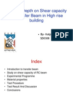 Effect of Depth on Shear Capacity of Transfer Beam in High Rise Building Ppt