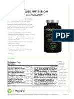 It Works! Its Vital Core Nutrients (Vitamins) Information Sheet