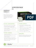 It Works! Its Vital, Complete Nutrition Pack Information Sheet