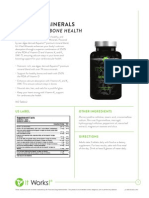 It Works! Its Vital, Minerals (Body Health) Information Sheet
