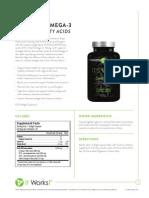 It Works! Its Vital, Omega-3s (Essential Fatty Acids) Information Sheet