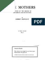 Robert Briffault - The Mothers I