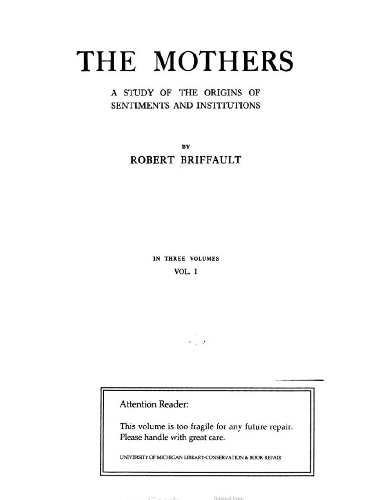 Robert Briffault The Mothers Epub Download