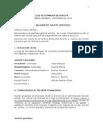 Informe Presidente de Liga de Gimnasia de Bogota Marzo 2014