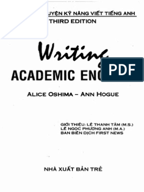 Writing Academic English 3rd Edition by Alice Oshima and Ann ...