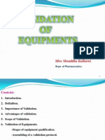 Validation of Equipment