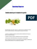 Libre de Gastritis-Remedios Naturales Para El Tratamiento de La Gastritis