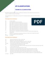 API Classifications