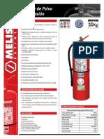 Extintor Polvo ABC 10 Kg