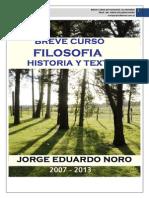 266. BREVE CURSO DE FILOSOFIA + HISTORIA Y TEXTOS