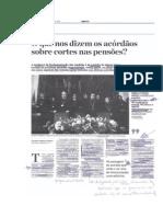 'O que nos dizem os acórdãos sobre cortes nas pensões?' (Jornal de Negócios, 04.08.2014)