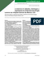 Estudio Cirugia de Corta Estancia Mexico