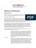 Rhetoric and Philosophy