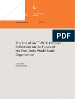 Brandi & Helble (2011) the End of GATT to History Reflections on the Future of the Post Doha World Trade Organization