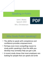 1 speaking in public