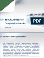 BioLineRx Company Presentation (Jun-14)