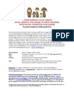 Social Thinking Group for Parents Fall 2014