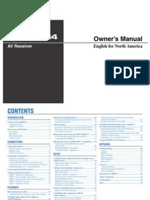 HTR 3064 Manual | Hdmi | Loudspeaker