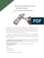 Conozca El Decreto 2193 de 2013 Sobre Paraísos Fiscales