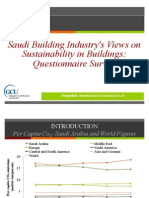 Saudi Building Industry's Views on Sustainability in Buildings