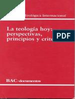 Teologia Hoy Perspectivas Principios y Criterios